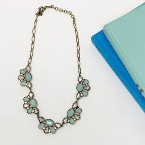 J. Crew Blue Stone Statement Necklace 0941